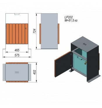 Šiukšliadėžė LP202 | 2