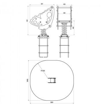 Spyruoklinė sūpynė TE218 | 2