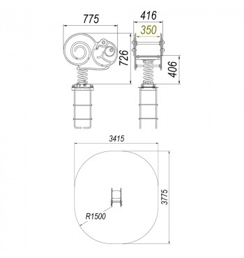 Spyruoklinė sūpynė TE235 | 2