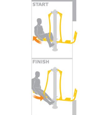 Kojų raumenų treniruoklis SE103 | 3