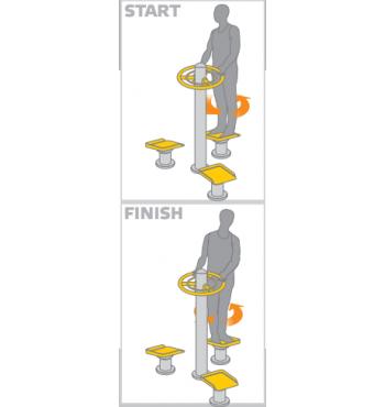 Pilvo raumenų treniruoklis SM114-4 | 3