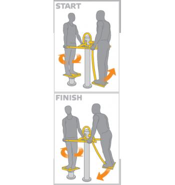 Kojų treniruoklis SM104-114 | 3