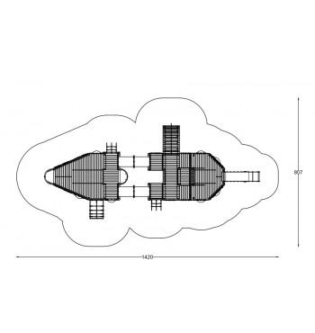 """Žaidimų komplekas """"Laivas Galeonas"""" A3009D   2"""