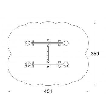 Dvigubos balansinės sūpynės su tvora A3519A2 | 2
