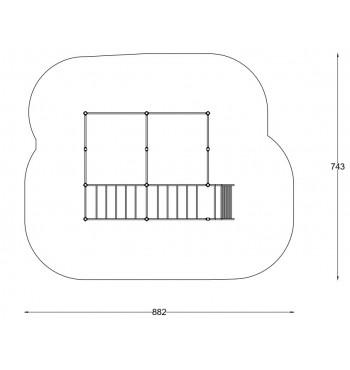 Gimnastikos kompleksas A3631S | 2