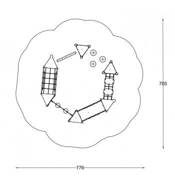 Kliūčių ruožas A3645S | 2