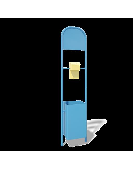 Šiukšliadėžė/informacinis stendas BO016