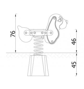 Spyruoklinės sūpynės 3012EPZ | 4