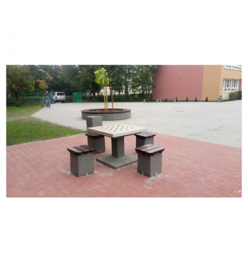 Betoninis šachmatų stalas 514 | 4