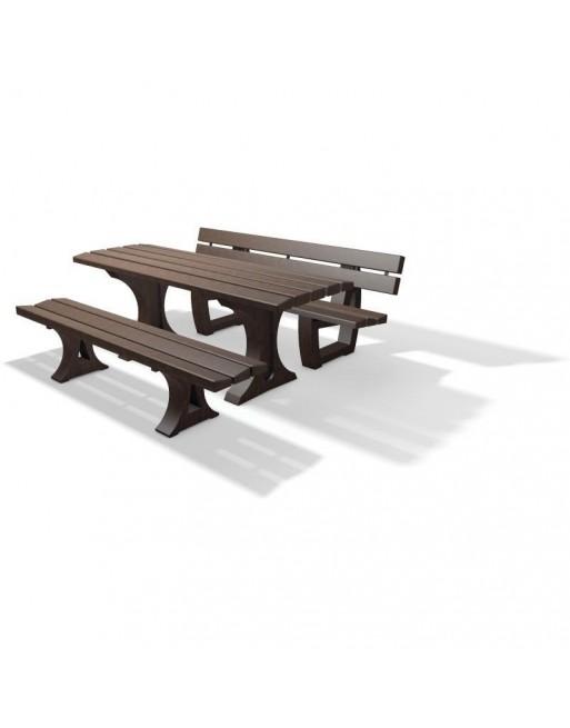 Perdirbto plastiko stalo komplektas Alton BSALT1B200