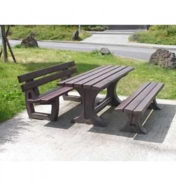 Perdirbto plastiko stalo komplektas Alton BSALT1B200 | 3